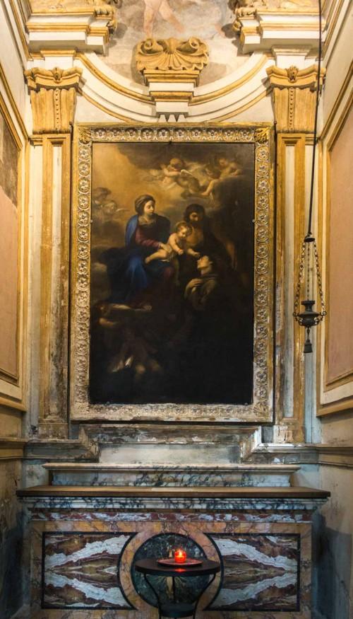 San Marco, kaplica św. Antoniego, Madonna z Dzieciątkiem adorowana przez św. Antoniego z Padwy i św. Annę, Luigi Primo detto il Gentile, XVII w.