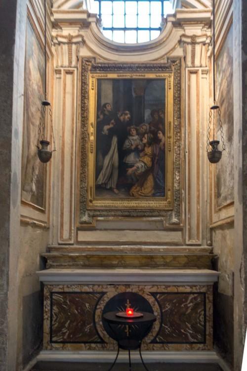 San Marco, kaplica św. Dominika, Cud św. Dominika, Baccio Ciarpi, XVII w.