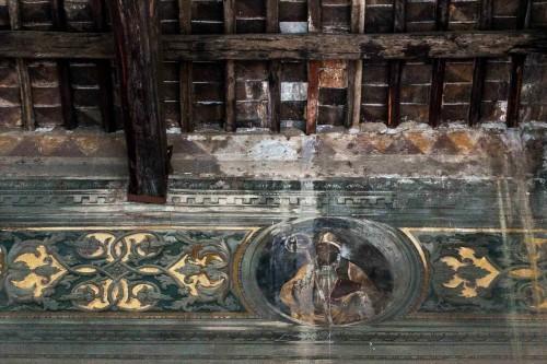 San Marco, loggia delle benedizioni, freski z XV w. - św. Marek papież