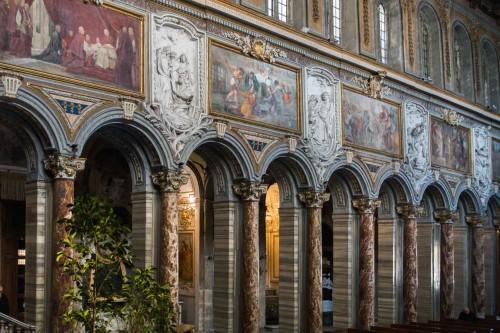 San Marco, malowidła i stiuki  w partii nadarkadowej