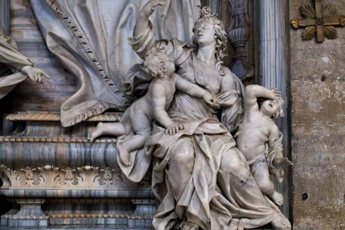 San Marco, nagrobek kardynała A. Prioli, alegoria Miłosierdzia, detal