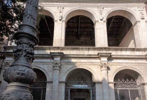 San Marco, renesansowa loggia kościoła  z herbami rodu Barbo i wizerunkiem św. Marka