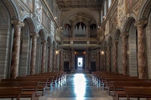 San Marco,  widok wnętrza kościoła od strony ołtarza