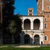 San Marco - renesansowa loggia przylegająca do Palazzo Venezia, z tyłu kampanila z XII w.