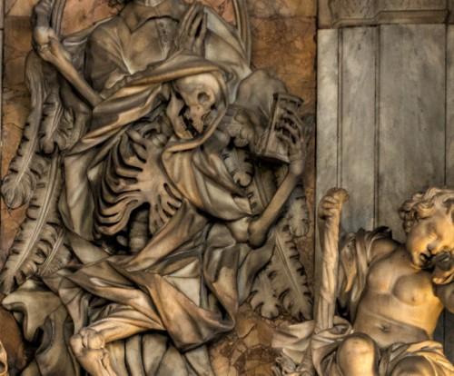 Santissimi Nomi di Gesù e Maria, pomnik nagrobny Camilla del Corno, fragment, Domenico Guidi