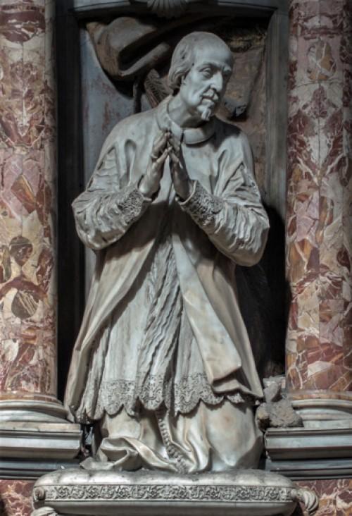 Santissimi Nomi di Gesù e Maria, pomnik nagrobny Giorgio Bolognettiego, fragment, Francesco Cavallini