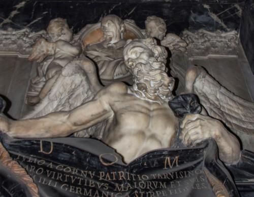 Santissimi Nomi di Gesù e Maria, pomnik nagrobny Giulia del Corno, fragment, Ercole Ferrata