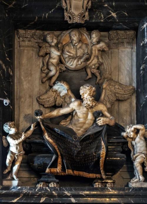 Santissimi Nomi di Gesù e Maria, pomnik nagrobny Giulio del Corno, Ercole Ferrata
