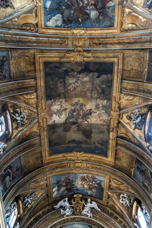 Santissimi Nomi di Gesù e Maria, sklepienie - Koronacja Marii, Giacinto Brandi