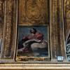 Santissimi Nomi di Gesù e Maria, dekoracja międzyokienna, wizerunek św. Jana Ewangelisty