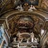 Santissimi Nomi di Gesù e Maria, zwieńczenie ołtarza głównego i malowidła w zwieńczeniu absydy - Giacinto Brandi