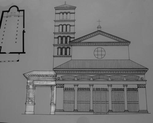 Łuk Srebrników (Arco degli Argentari) obok kościoła San Giorgio in Velabro