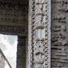 Arch of the Silversmiths (Arco degli Argentari), imperial eagles, garlands and weapons along with the heads of emperors – Caracalla and Septimius Severus
