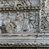 Łuk Srebrników (Arco degli Argentari), relief ukazujący scenę składania zwierzęcych ofiar