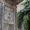 Łuk Srebrników (Arco degli Argentari), scena przedstawiająca składanie ofiar przez Karakallę i Gatę (postać skuta)