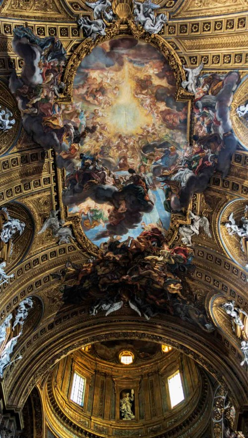 Baciccio, dekoracja sklepienia kościoła Il Gesù