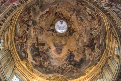 Baciccio,  dekoracje kopuły kościoła Il Gesù