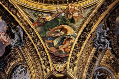 Baciccio, ewangeliści w pendentywach kopuły kościoła Il Gesù