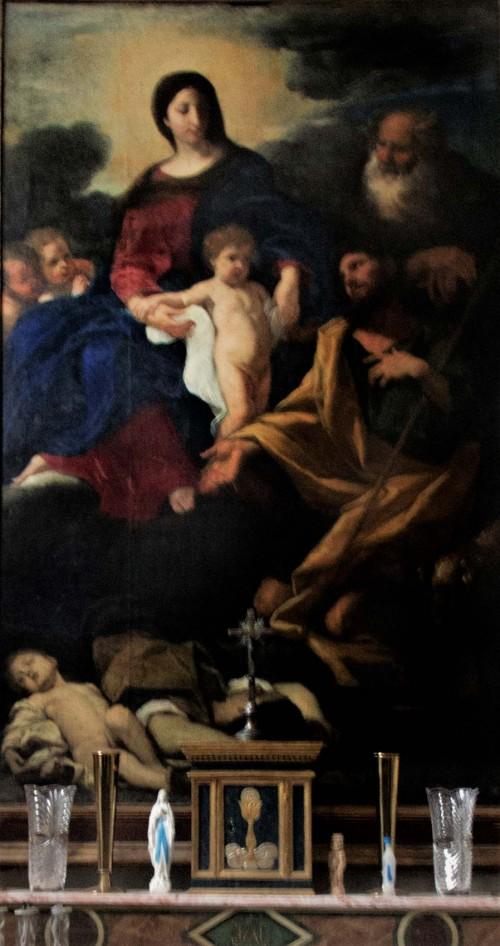 Baciccio, Madonna ze św. Rochem i św. Antonim, zakrystia kościoła San Rocco