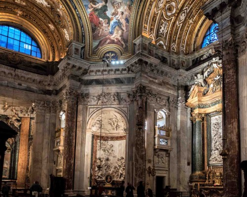 paintings in the pendentives – Wisdom and Providence, Church of Sant'Agnese in Agone