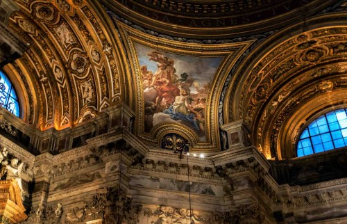 Baciccio, malowidło w pendentywach Sprawiedliwość i Pokój, kościół Sant'Agnese in Agone