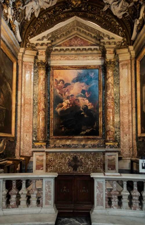 Baciccio, Śmierć Franciszka Ksawerego, obraz w bocznej kaplicy kościoła Sant'Andrea al Quirinale