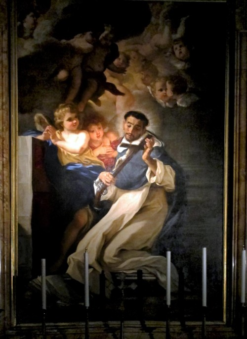 Baciccio, Św. Ludwik Bertrand, kaplica Caffarelli w kościele Santa Maria sopra Minerva, Wikipedia, autor Sailko