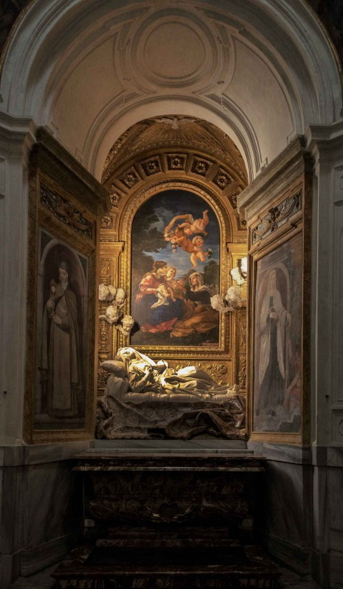 Baciccio, The Holy Family, painting in the side altar of the Church of San Francesco a Ripa