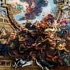 Baciccio, dekoracja sklepienia kościoła Il Gesù - Triumf Imienia Jezusa, fragment