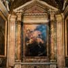 Baciccio, The Death of Francis Xavier, painting in the side chapel of the Church of Sant'Andrea al Quirinale