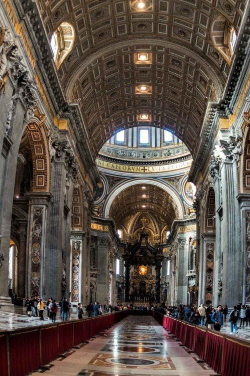 Interior of the Basilica of San Pietro in Vaticano