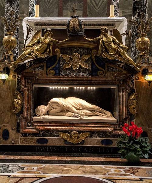 Posąg św. Cecylii, Stefano Maderno, bazylika Santa Cecilia