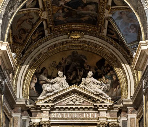 Stefano Maderno, Allegory of Peace and Justice above the main altar of the Church of Santa Maria della Pace