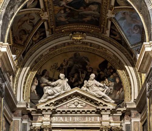 Stefano Maderno, Alegoria Pokoju i Sprawiedliwości nad ołtarzem głównym kościoła Santa Maria della Pace