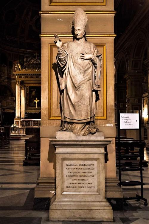 Stefano Maderno, figura św. Karola Boromeusza, kościół San Lorenzo in Damaso