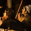 Caravaggio, Madonna Loretańska, fragment, bazylika Sant'Agostino