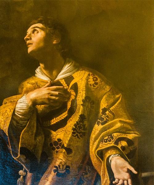 Madonna objawiająca się św. Wawrzyńcowi, fragment, Giovanni Lanfranco, Palazzo del Quirinale