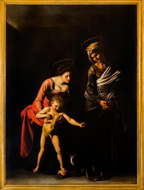 Caravaggio, Madonna z Jezusem i św. Anną (Madonna dei Palafrenieri), Galleria Borghese