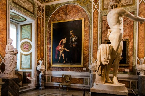 Sala Caravaggia z obrazami malarza, Galleria Borghese