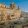 Piazza Navona, obraz Gaspare Vanvittelli, 1699, Museo Thyssen-Bornemisza, Madryt, zdj. Wikipedia