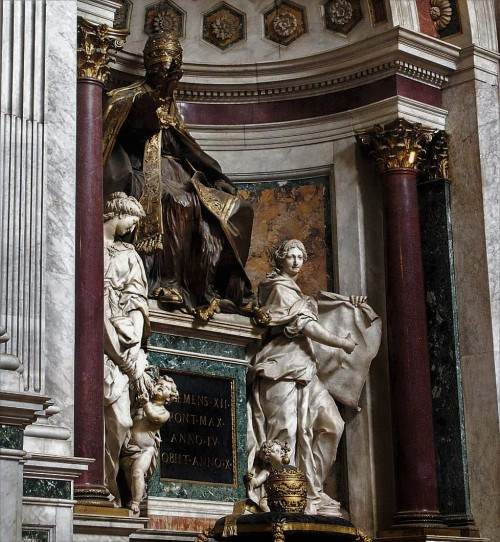 Giovanni Battista Maini, kaplica Corsini, posąg nagrobny papieża Klemensa XII, bazylika San Giovanni in Laterano