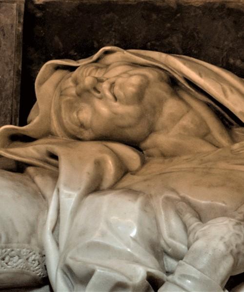 Giovanni Battista Maini, Św. Anna konająca, fragment, kościół Sant'Andrea delle Fratte