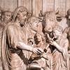 Cesarz Marek Aureliusz  składający ofiarę bogom przed świątynią Jowisza, relief z niezachowanego pomnika cesarza, fragment, Musei Capitolini