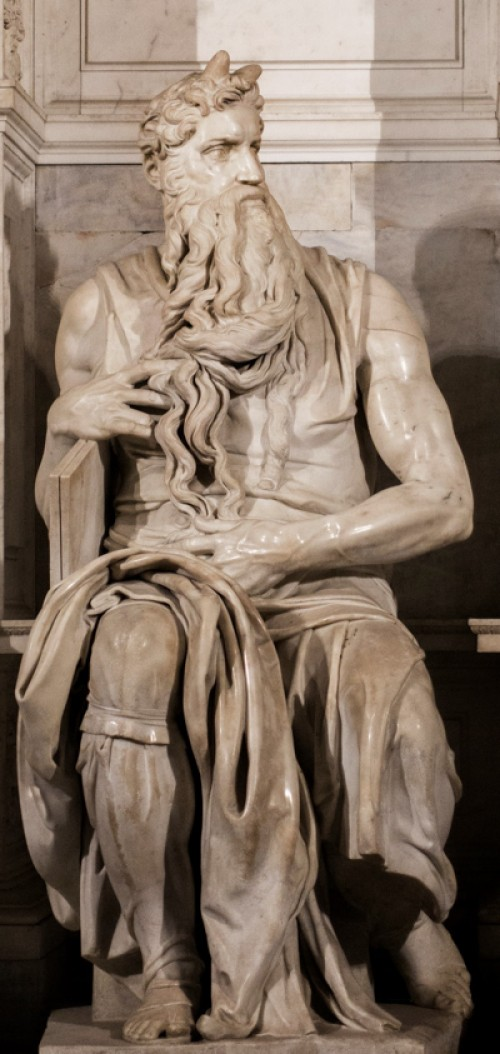 Michelangelo, statue of Moses, funerary monument of Julius II, Basilica of San Pietro in Vincoli