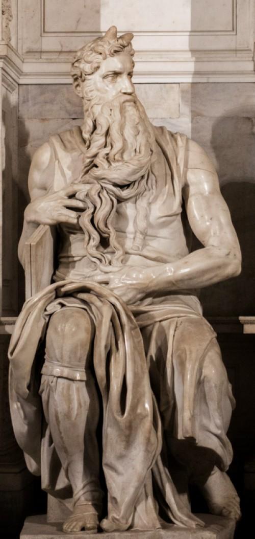 Michał Anioł, posąg Mojżesza, pomnik nagrobny Juliusza II, kościół San Pietro in Vincoli