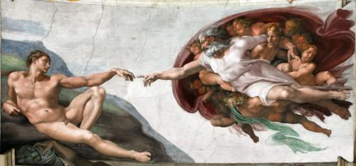 Michał Anioł, sklepienia kaplicy Sykstyńskiej, fragment, zdj. Wikipedia