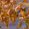 Michał Anioł, kaplica Sykstyńska, ołtarz główny, Sąd Ostateczny, fragment, zdj. Wikipedia