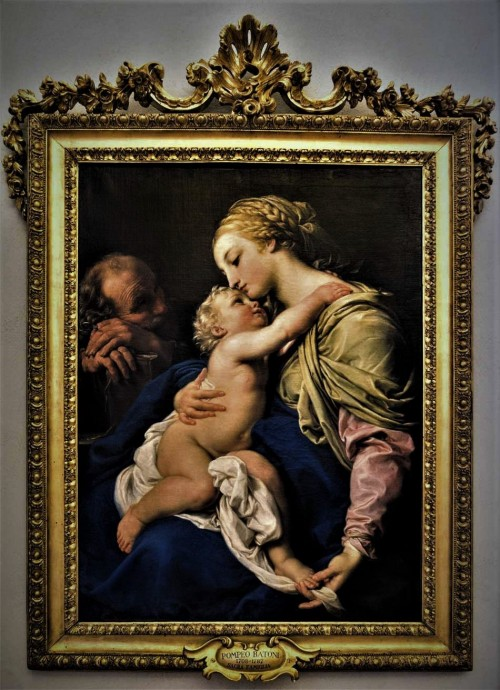 Madonna z Dzieciątkiem Jezus, Pompeo Batoni, ok. 1760 r., Musei Capitolini - Pinacoteca Capitolina