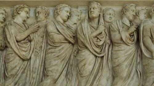 Ołtarz Pokoju, Museo dell'Ara Pacis, fryz ściany północnej ołtarza