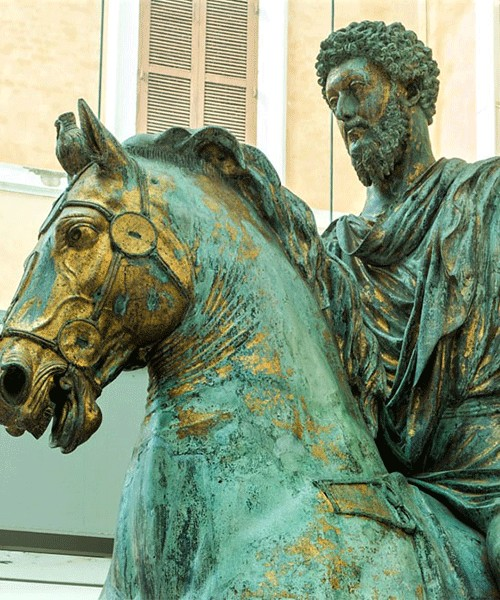 Posąg konny cesarza Marka Aureliusza, fragment, Musei Capitolini